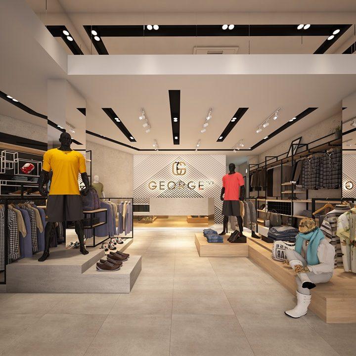 Thiết kế thi công nội thất cửa hàng