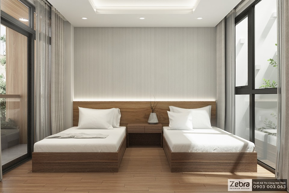 phòng ngủ twin bed