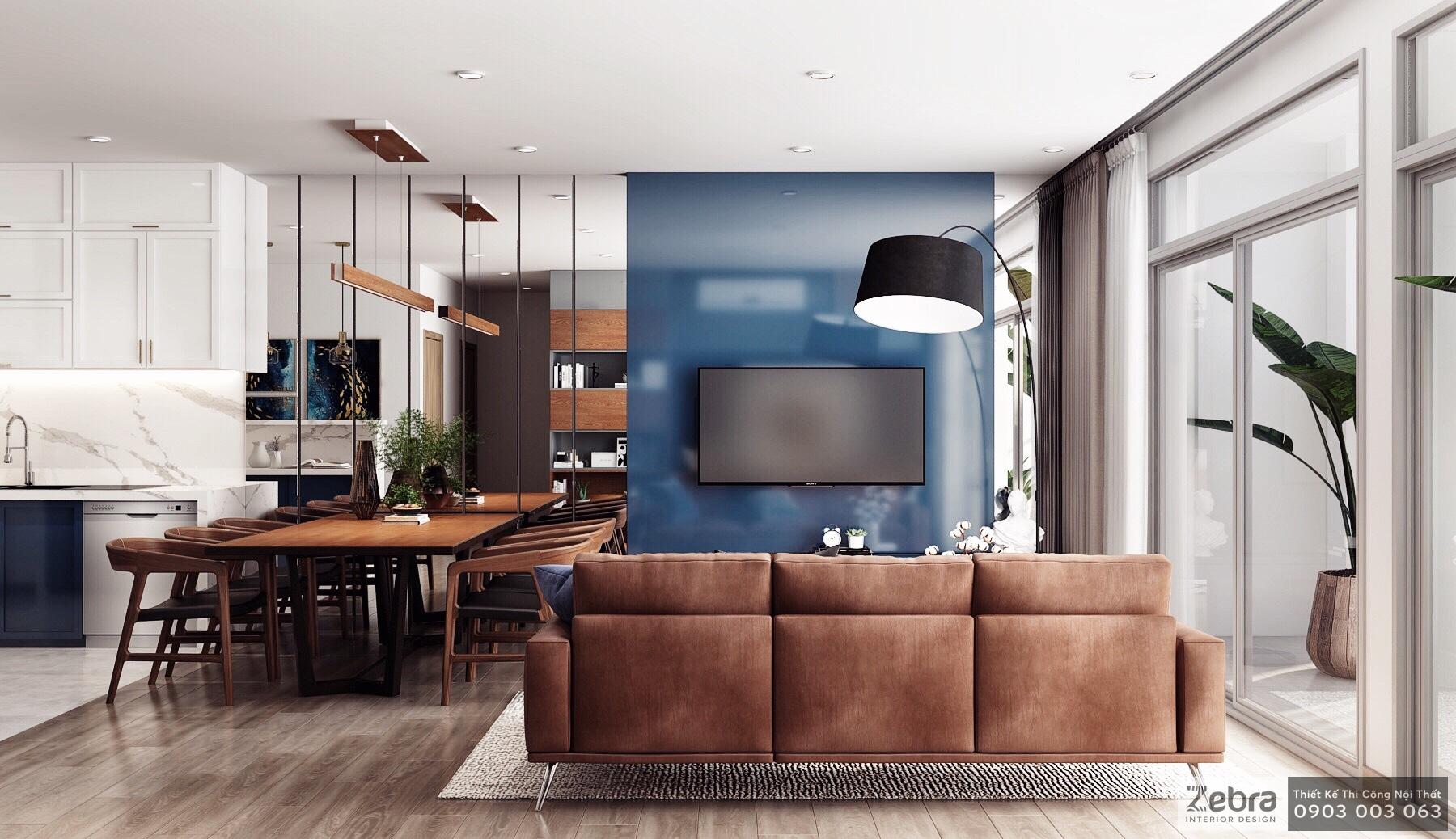 thiết kế thi công nội thất căn hộ orchard parkview