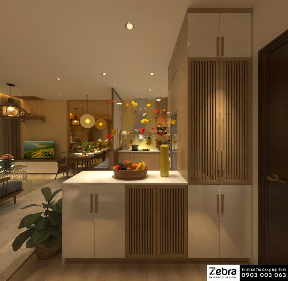 thiết kế thi công nội thất căn hộ sunrise riverside