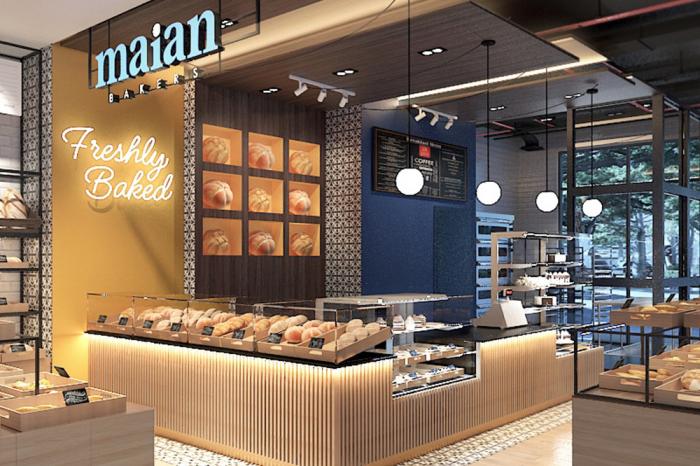 thiết kế nội thất cửa hàng bánh maian bakers minh khai